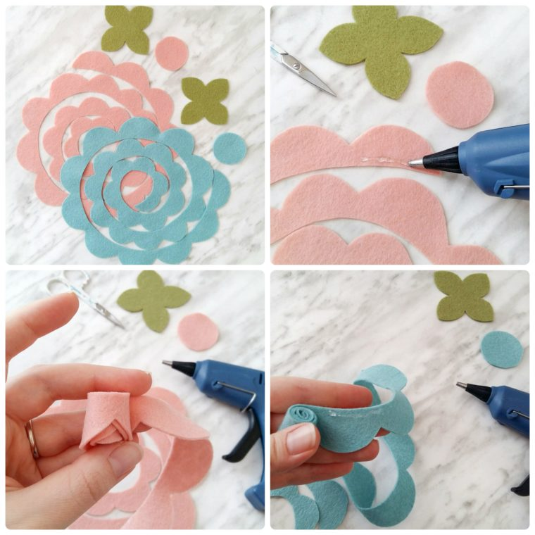 How to make a simple DIY rolled felt flower