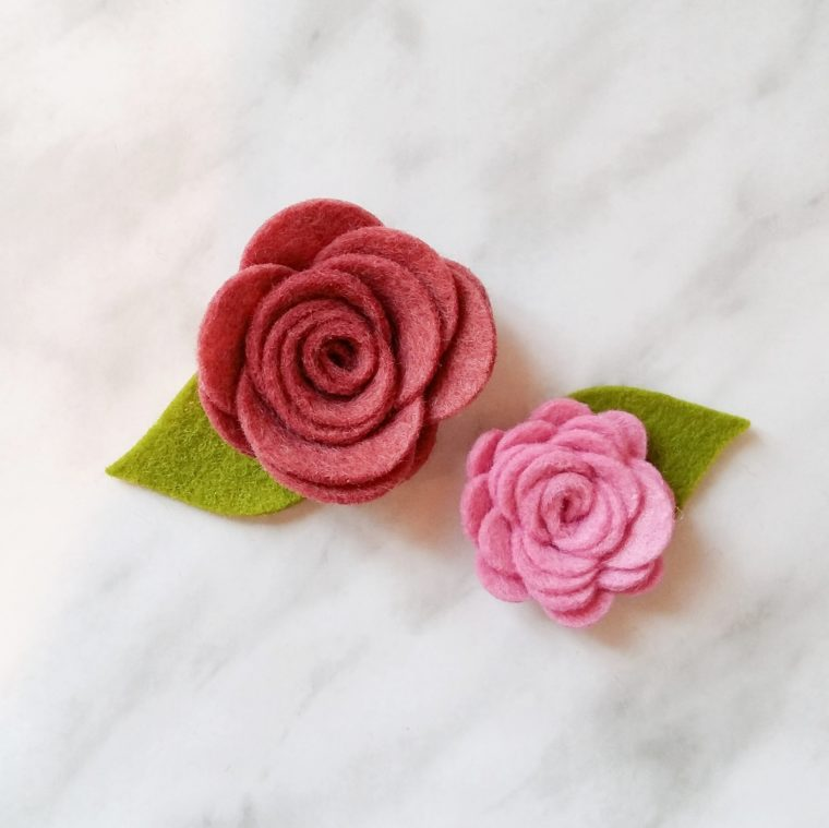 Pretty little rolled felt flowers. How to use one die to make 6 different kinds of felt florals.