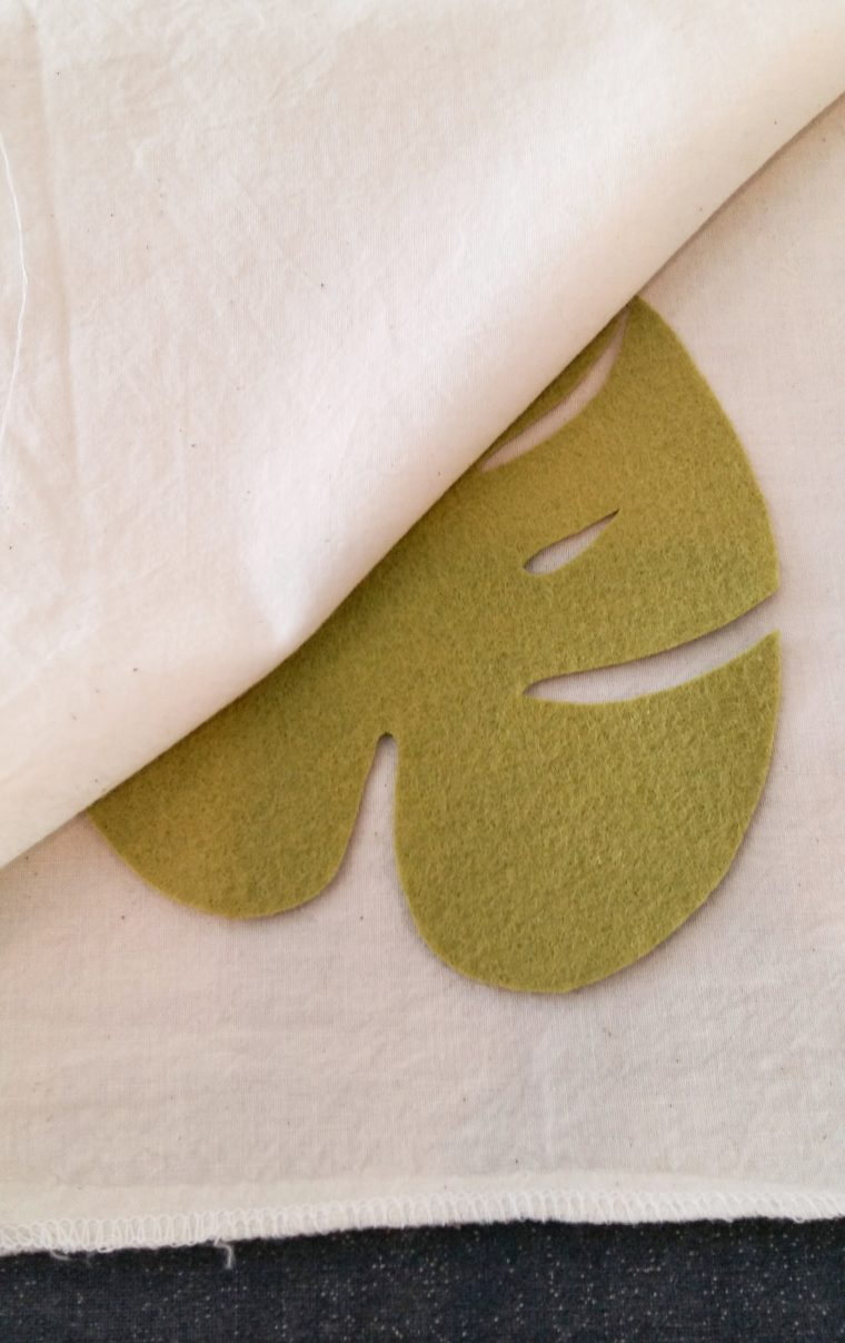 Use a cotton press cloth to iron your felt leaves