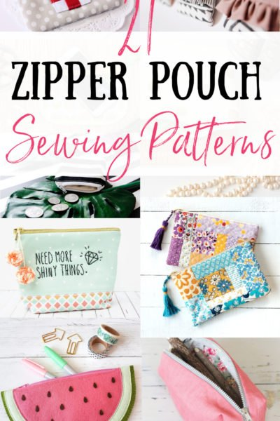 21 Super cute zipper pouch patterns to make and sew. Free zipper pouch patterns. Learn how to make zippered make-up pouches, pencil cases, foldover clutches and more! Easy sewing tutorials for zippered bags. A DIY zip pouch for every occasion. So many free sewing patterns for zipper pouches you'll be making one for everyone you know!