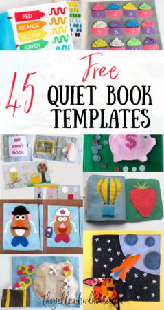45 Free Quiet Book Templates. A collection of the best free felt quiet book pages to make and sew. DIY quiet book instructions and patterns for beginners. Design your own felt quiet book by mix and matching these free templates.