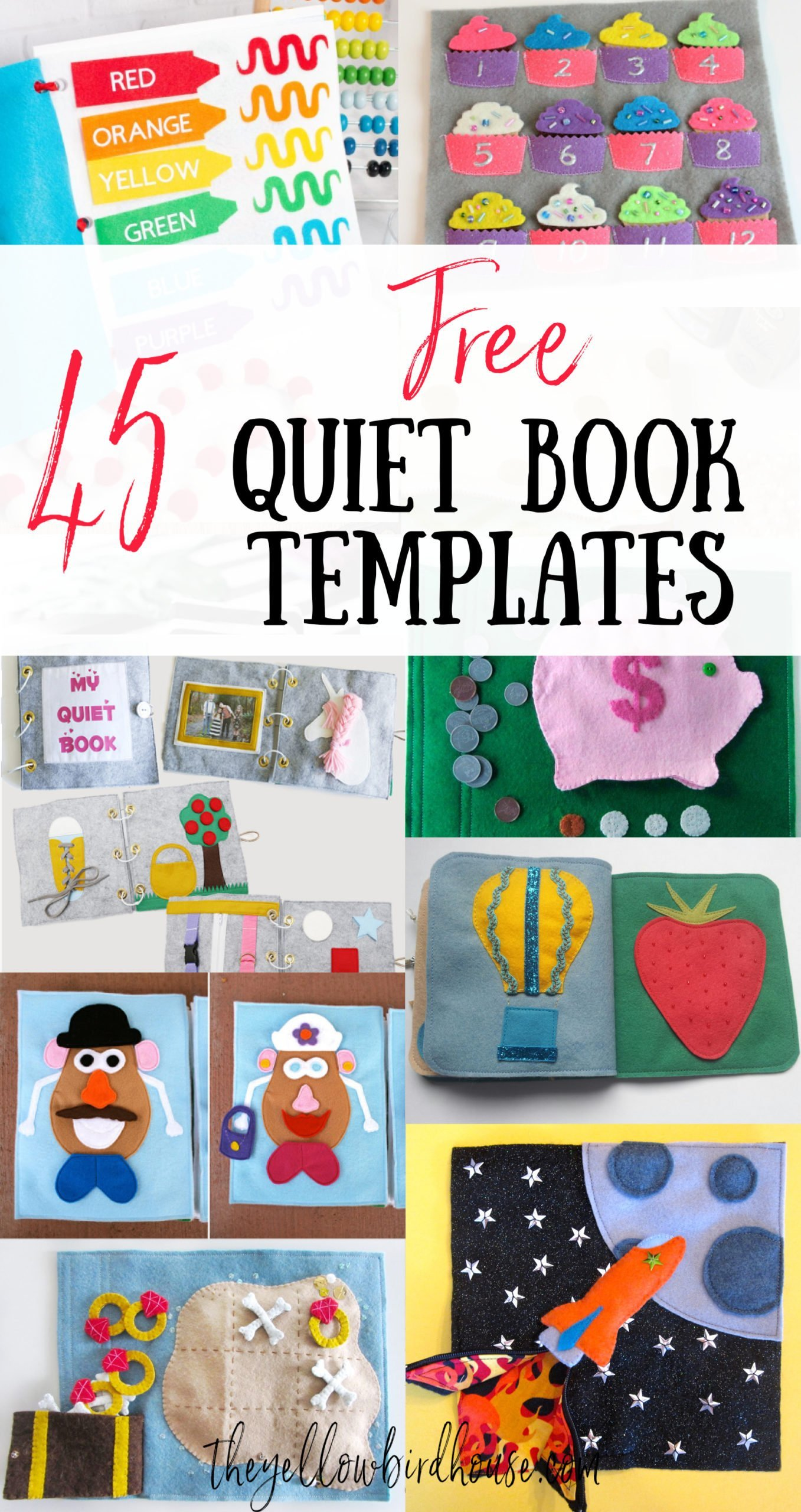 45 Free Quiet Book Templates Pages The Yellow Birdhouse