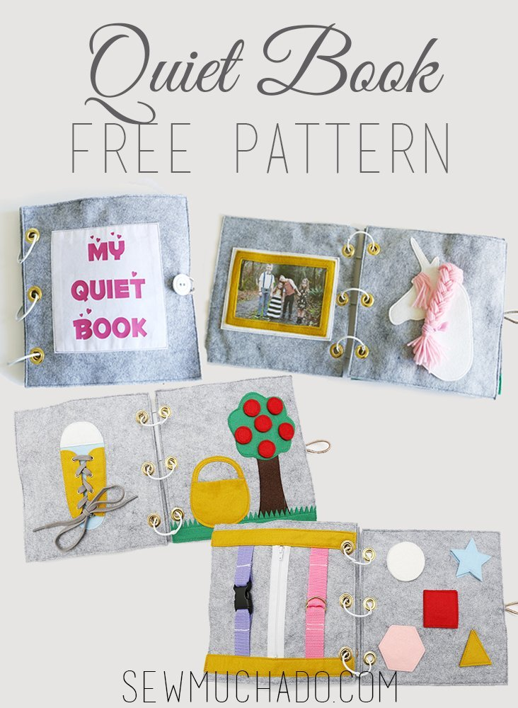 Free quiet book page templates for crafting with felt