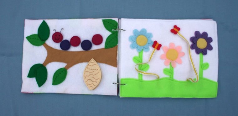 Teach kiddos about the stages of butterfly life with this sweet butterfly quiet book
