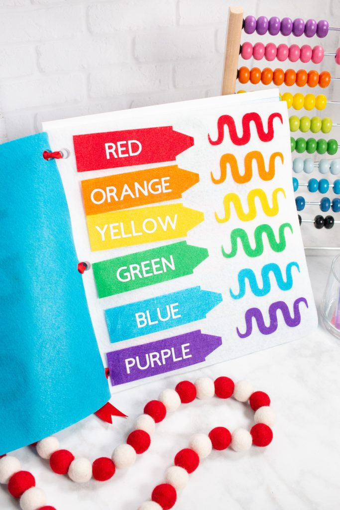 Use your Cricut to cut out these no-sew quiet book templates