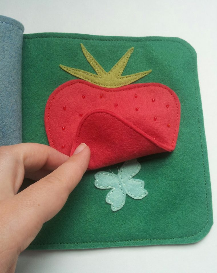 Make a peek-a-boo strawberry page for this DIY quiet book