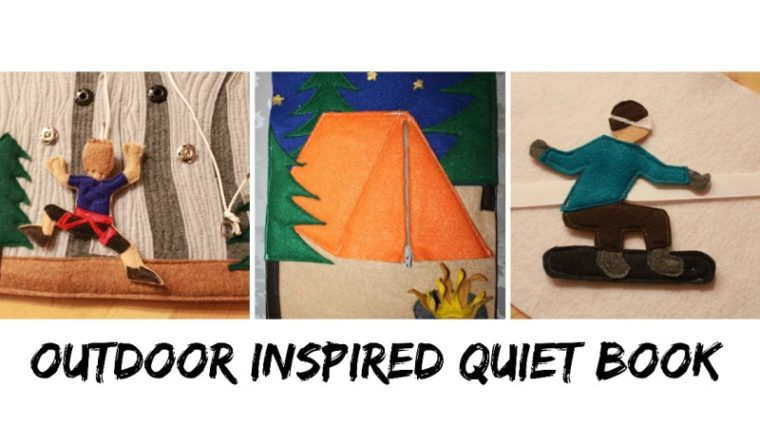 Outdoor themed quiet book pages