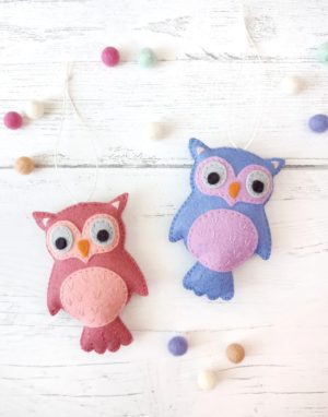 Make an adorable little owl plush and turn it into an ornament or decoration!