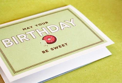 Donut themed birthday card printable