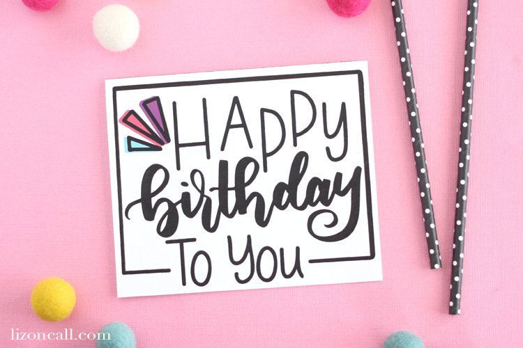 Sweet & simple free birthday cards to print at home