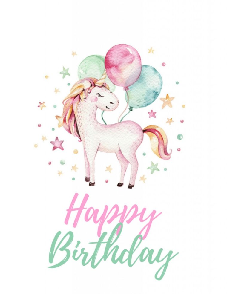 Unicorn birthday free printables