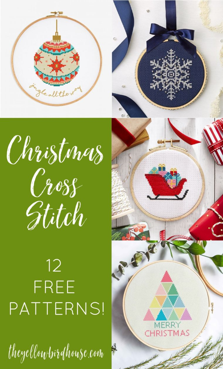 12 Free Christmas Cross Stitch Patterns. Free Christmas embroidery patterns. DIY some Christmas decor with these 12 beautiful cross stitch designs and free pattern downloads!