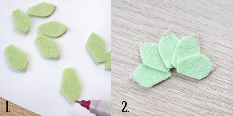 Make a beautiful felt succulent for some DIY felt decor.