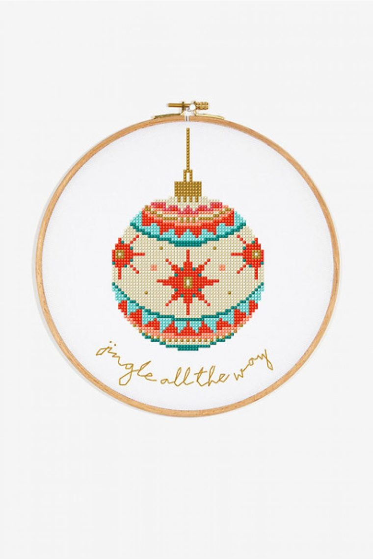 Stitch a sweet Christmas embroidery with these free cross stitch patterns