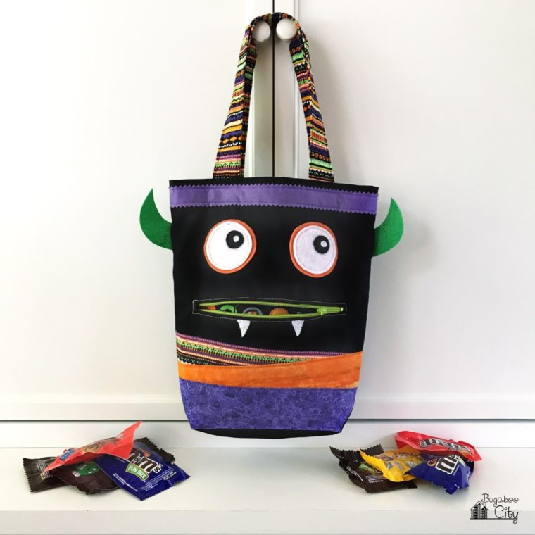 Sew up a DIY Halloween tote bag for little trick or treaters!