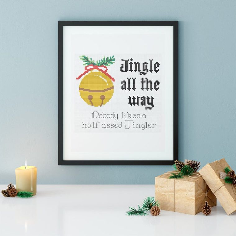 Funny Christmas cross stitch pattern
