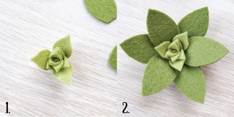 How to make a large felt succulent