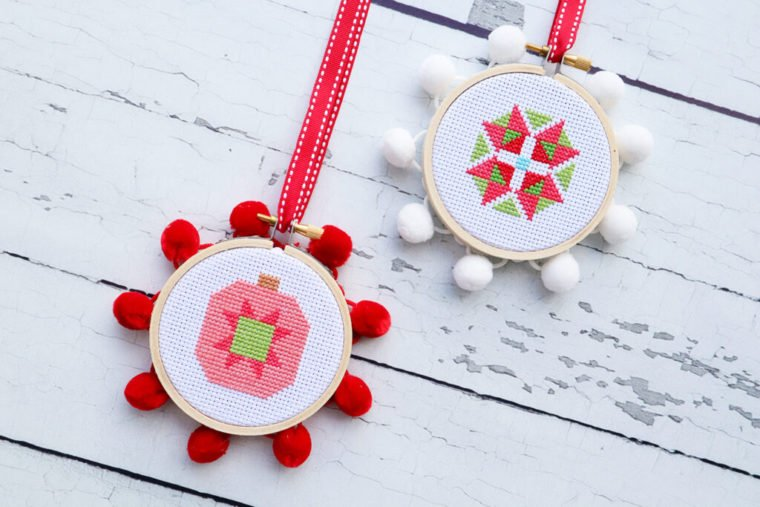 DIY Christmas cross stitch ornament patterns