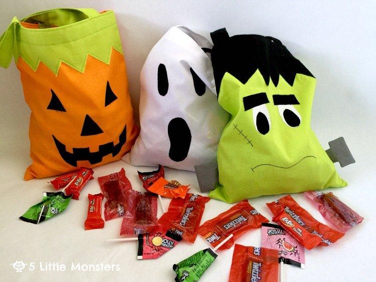 Frankenstein candy bag tutorial for Halloween.