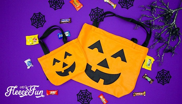 How to make DIY Halloween trick or treat bags for kids.
