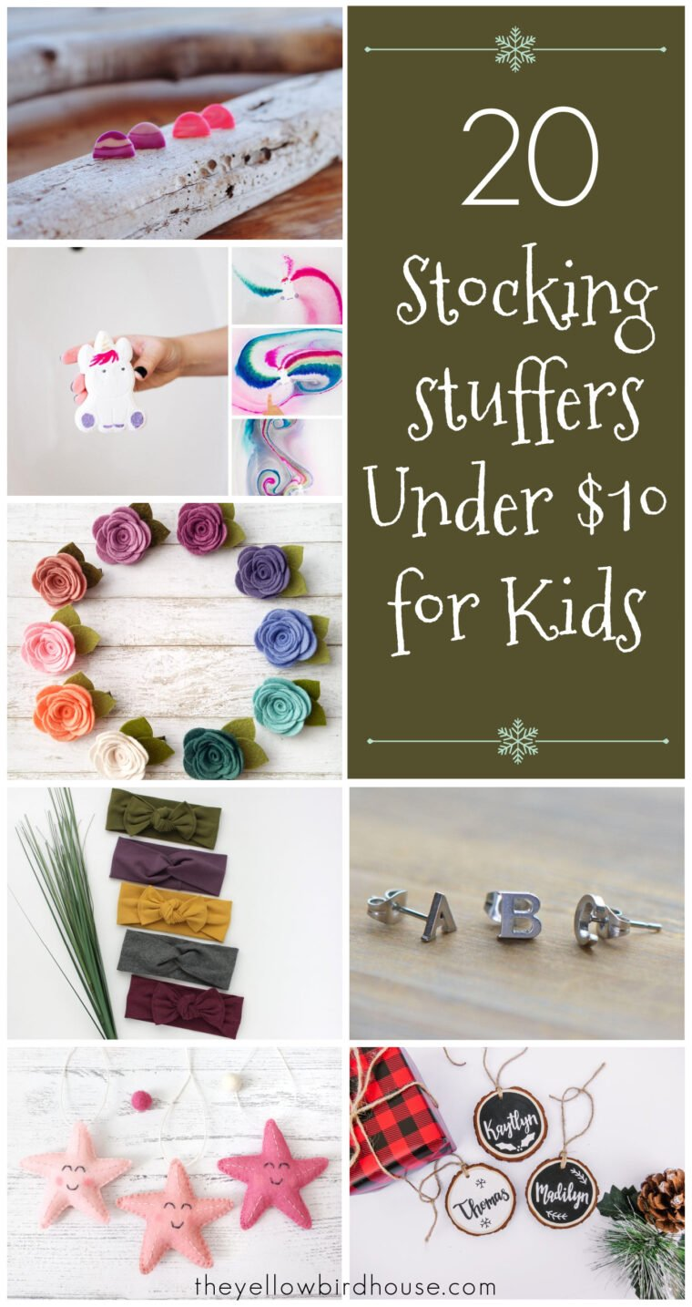 20 Stocking stuffers under $10 for kids. Great stocking stuffer ideas for kids. Gift ideas for kids under $10. Handmade gift ideas under $10 for children. Christmas gifts for girls. Christmas gifts for boys. Handmade Christmas gifts, keychains, ornaments, hair clips and more. Personalized Christmas gifts for kids.
