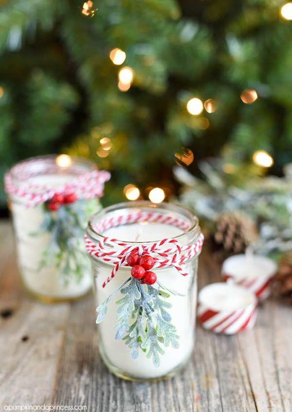 How to make candles for Christmas gifts. Great DIY Christmas gift ideas for coworkers.
