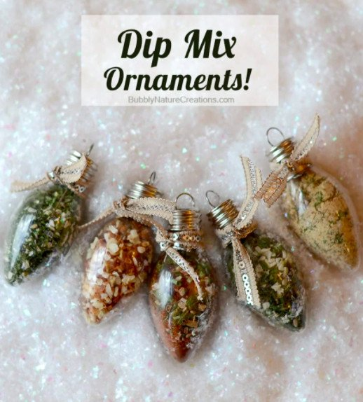 Dip mix ornaments. DIY gift ideas for foodies