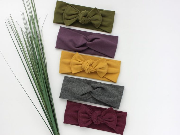 Stretchy bow headbands gifts for kids