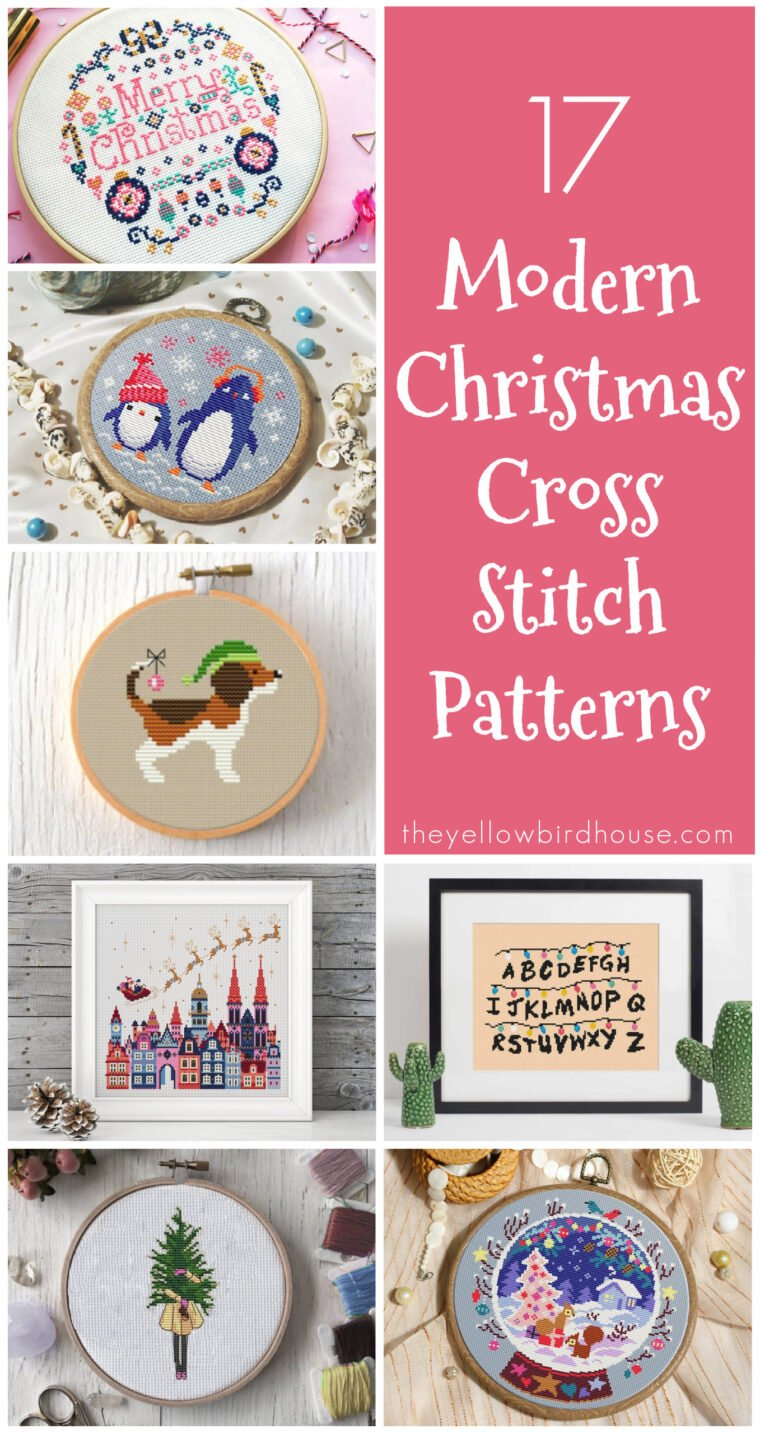 17 Modern Christmas Cross Stitch Patterns. Cross stitch patterns don't need to be boring! And Christmas doesn't need to be ultra traditional. Here are 17 modern cross stitch designs for the modern stitcher. Cross stitch some fun Christmas decor that you can reuse year after year. Funny cross stitch patterns for Christmas.