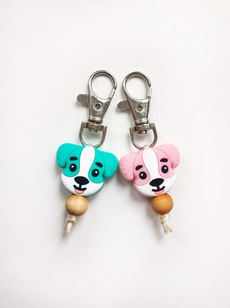 Puppy charms for back packs, pencil cases and key fobs. Gift ideas for kids under $10