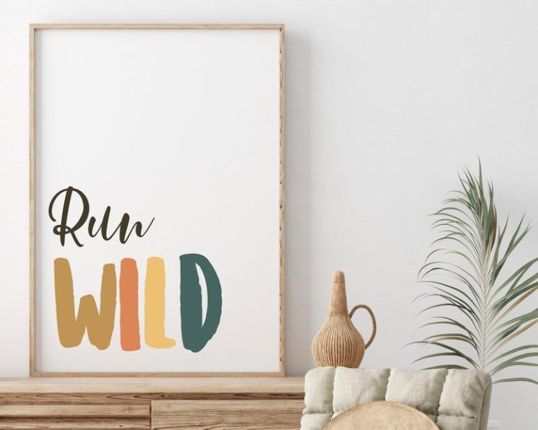 Digital print - Run Wild - Gifts for children