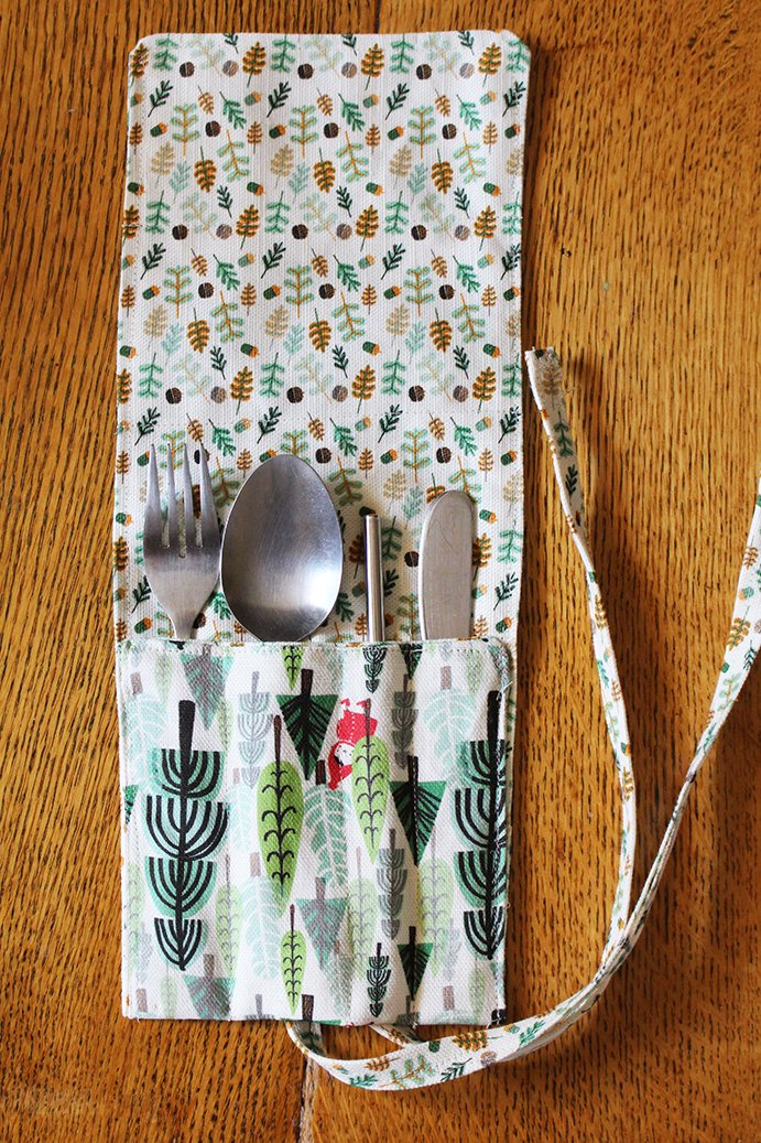 Zero waste changes to DIY. Cutlery keeper to stash in your purse for take out. DIY Christmas gifts to sew for family.