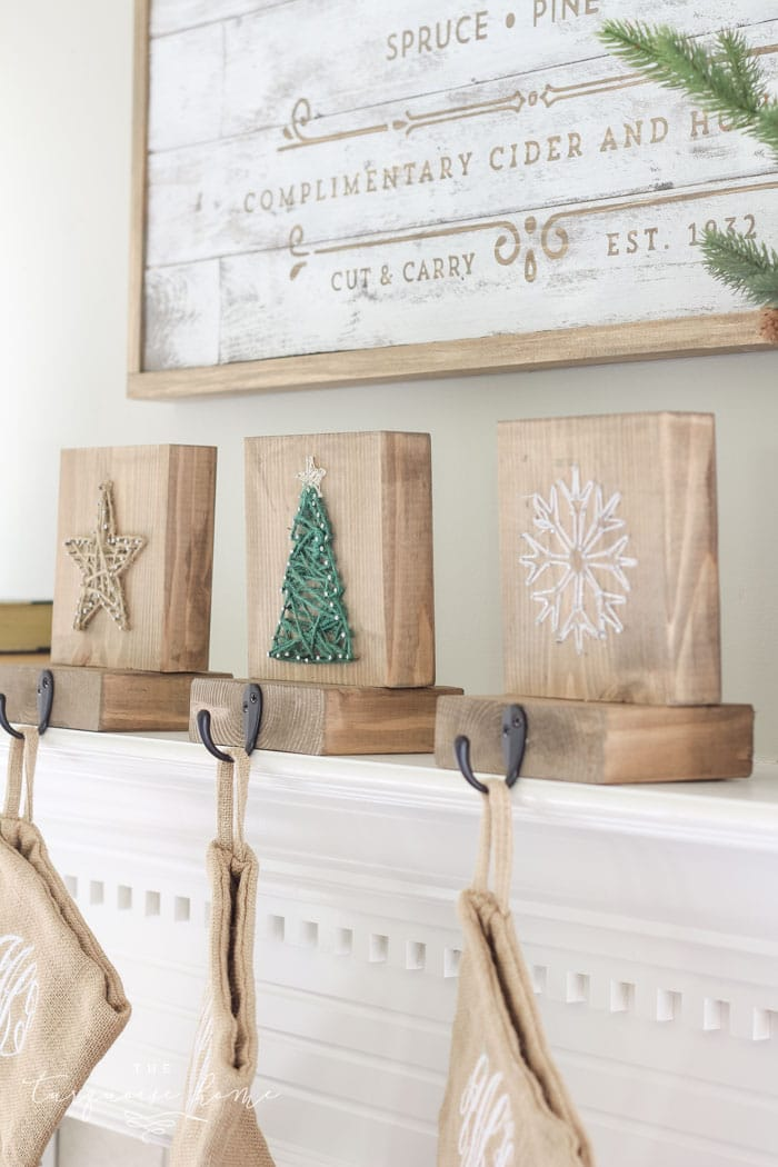 DIY Christmas stocking holders. Great gift ideas for family for Christmas.