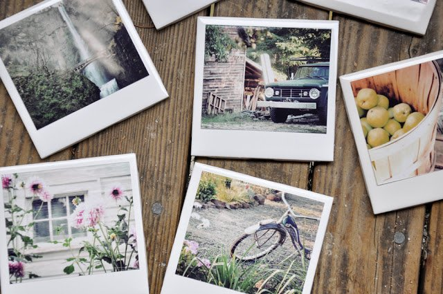 Turn family photos into coasters with this simple DIY tutorial. Handmade gift ideas for family.