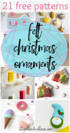 21 Free felt Christmas ornament patterns. Free patterns for fun felt ornaments to make for Christmas. DIY felt ornaments for the holidays. Easy felt ornament tutorials. Make and sew some of the cutest felt Christmas decor!