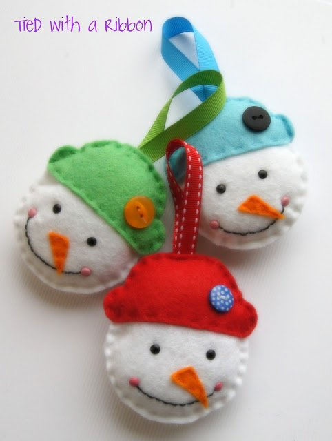 Felt snowman head pattern