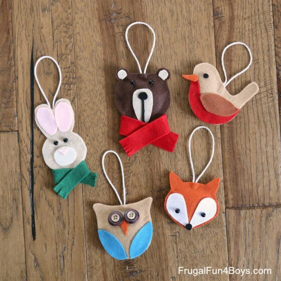 Adorable woodland creature ornaments with free patterns