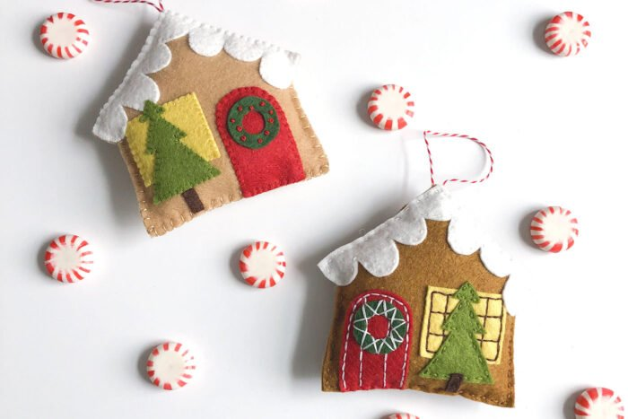 Sweet little gingerbread house ornament DIY