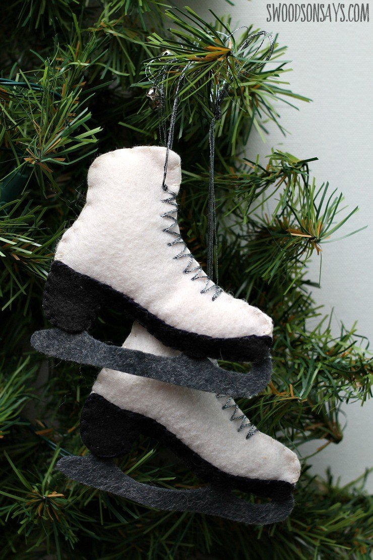 Ice skate ornament pattern & tutorial