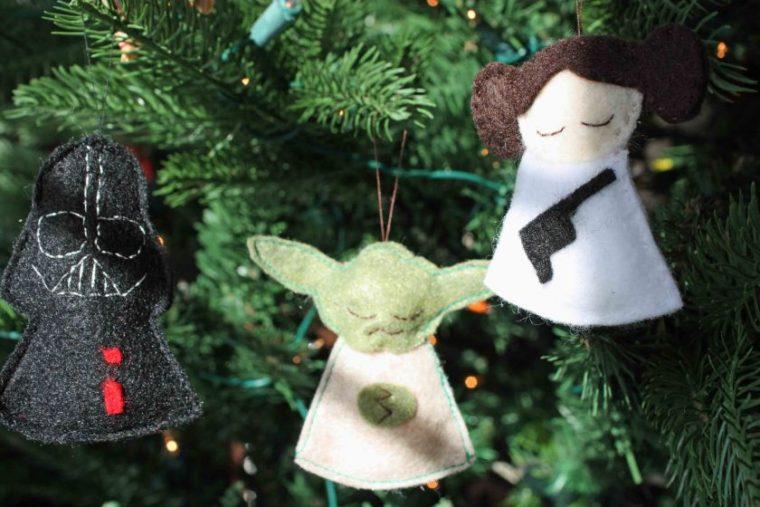 Star Wars Christmas ornaments. Free felt ornament patterns