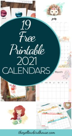 19 Free printable 2021 calendars. Start making some tentative plans using one of these pretty free calendar downloads! Free printable floral calendars, calendars for kids and colouring calendars. Free Calendars to print at home and start using right away. Fun calendars to keep 2021 organized and looking good!