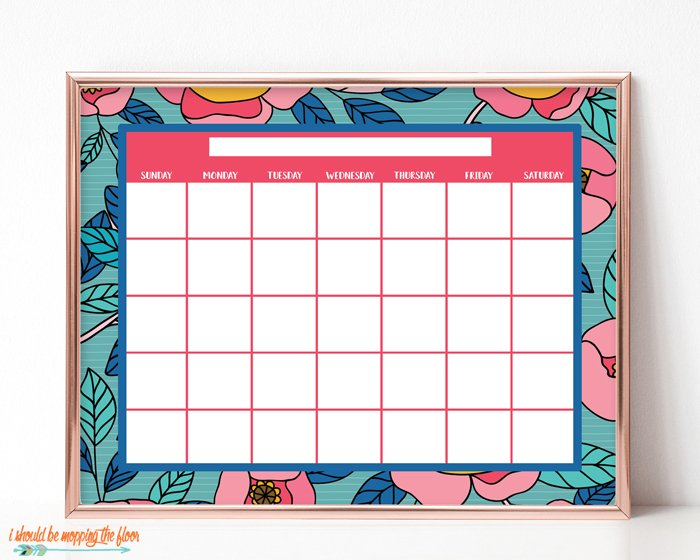 Blank calendar. Free printable and fillable calendar page