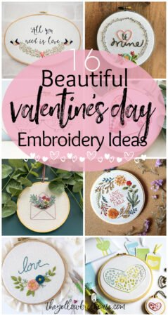 16 Valentine's Day Embroidery Ideas. Beautiful valentines themed embroidery patterns. Floral embroidery patterns for DIY valentine's decor. Heart themed embroidery.