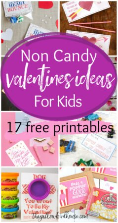 17 Non Candy Valentines Ideas for Kids. Free printable Valentine's Day cards. Punny Valentines for kids to give at school. Classroom approved sugar-free Valentine's ideas.