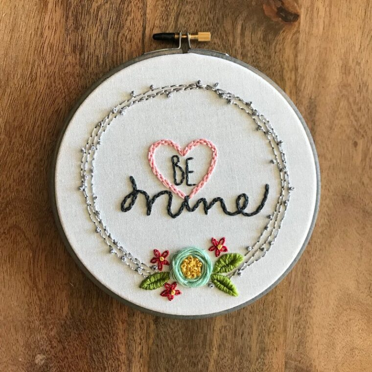 Sweet and simple embroidery to make for your love