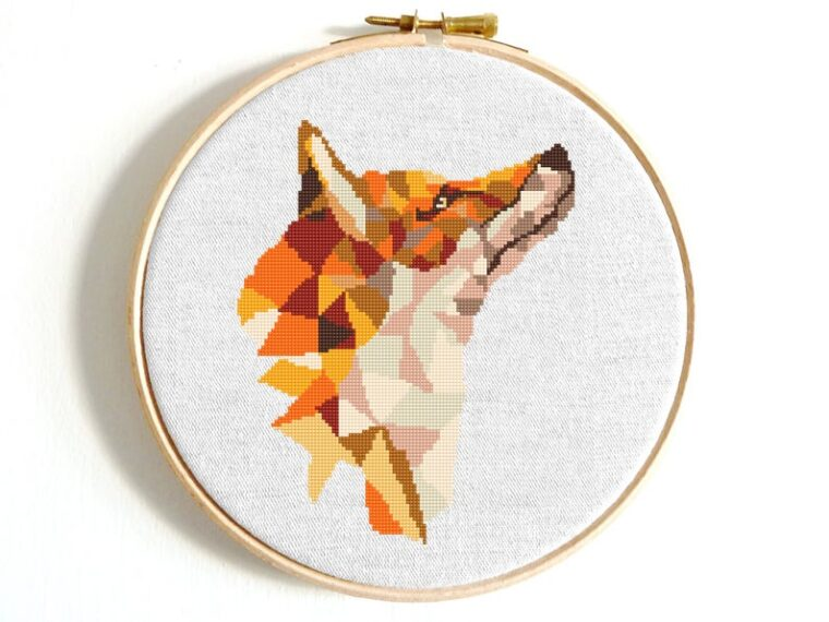 Sly fox geometric cross stitch pattern download. Woodland cross stitch patterns for beginners