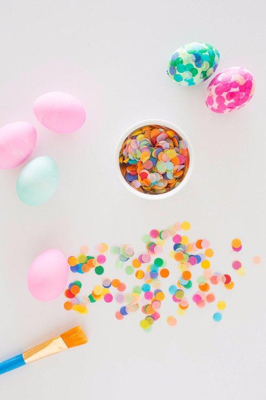 Tissue paper confetti Easter eggs.
