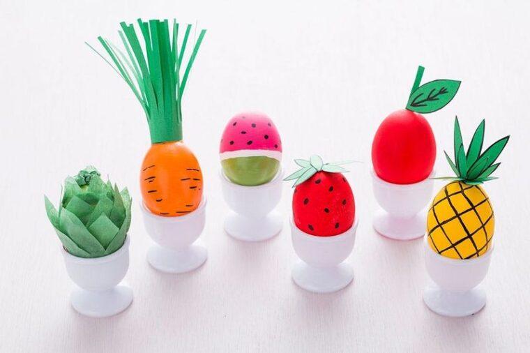 Clever fruit & veggie Egg decorating
