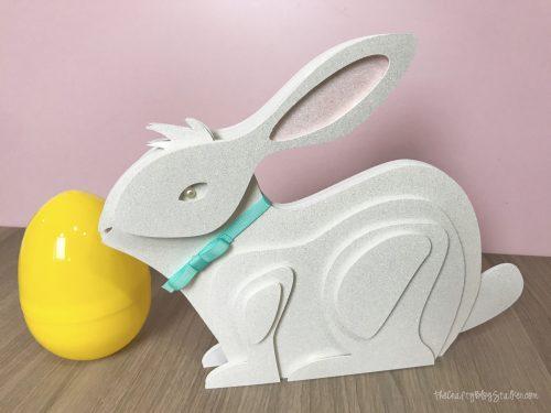 Bunny Cricut project. Make a 3-D paper bunny sculpture for Easter decor.