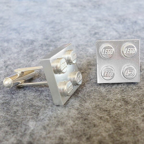 Fun Lego cufflinks to make for dad. Awesome last minute Father's Day gift ideas